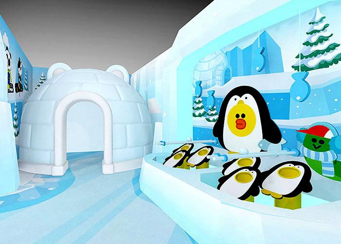 Line Friends 極光村特色餵飼小企鵝小遊戲
